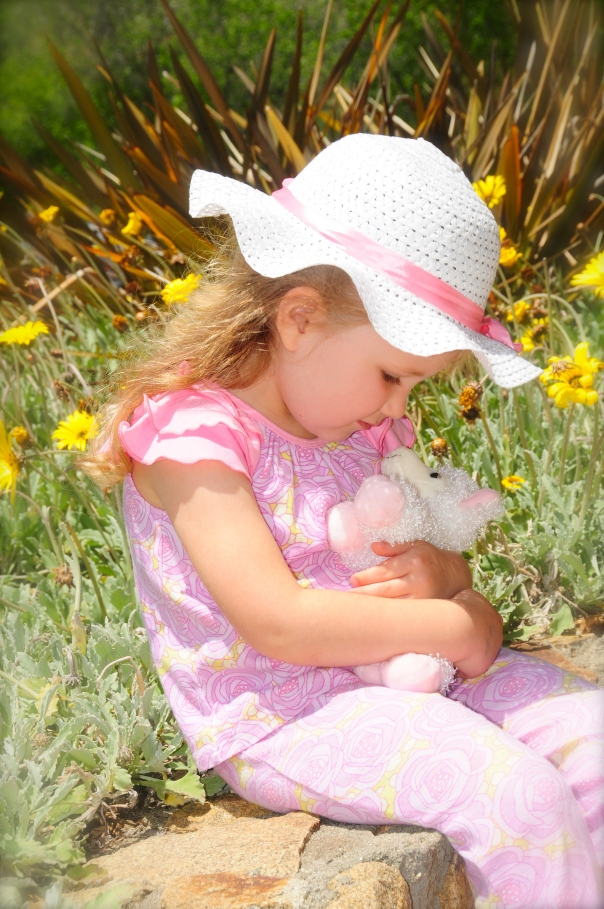 girl with little lamb