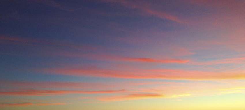 pastel sunset clouds