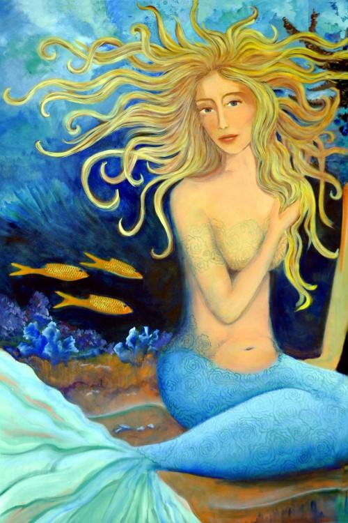Blonde Tails Mermaid Print