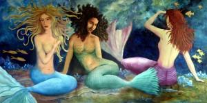 3 Mermaid Triptych Print