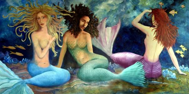 3 Mermaids Triptych Print